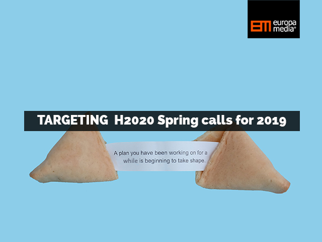 H2020 Spring 2019 deadlines: Which amazing project ideas are you working on?
