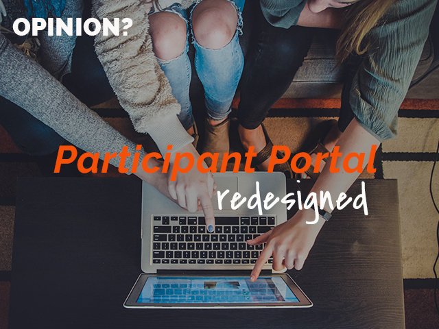 Share your impressions of the redesigned Participant Portal and get discounts for our upcoming training courses!