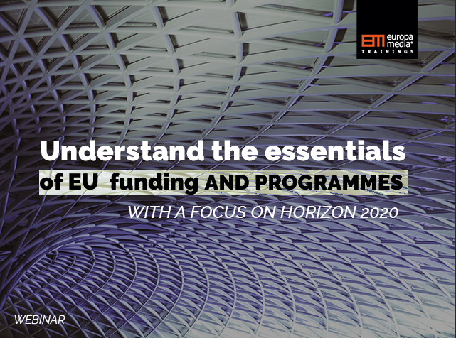 Applying for EU funding: finding the best programme for you, writing a solid project proposal